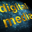 Stock Photo: Advertising concept: Digital Medion digital background