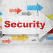 Stock Photo: Privacy concept: arrow whis Security on grunge wall background