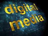 Advertising concept: Digital Media on digital background — Stock Photo