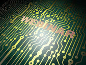 Education concept: circuit board with Webinar — Stock Photo