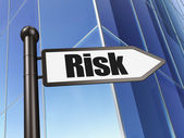Business concept: Risk on Building background — Photo