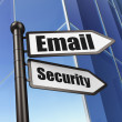 Privacy concept: Email Security on Building background — Stock Photo