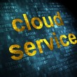 Stock Photo: Cloud technology concept: Cloud Service on digital background