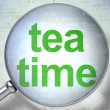 Timeline concept: Tea Time with optical glass — Lizenzfreies Foto