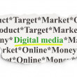 Marketing concept: Digital Media on Paper background — Stock Photo #34485243
