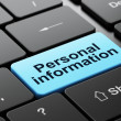 Stock Photo: Privacy concept: Personal Information on computer keyboard