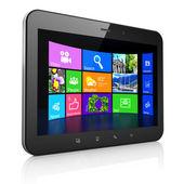 Desktop sur ordinateur pc tablet noir — Photo
