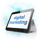 Advertising concept: Digital Marketing on tablet pc computer — Foto Stock