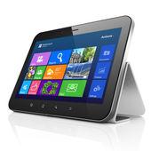 Desktop on black tablet pc computer — Stockfoto