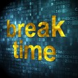Timeline concept: Break Time on digital background — Stock Photo