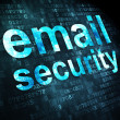 Protection concept: Email Security on digital background — Stock Photo