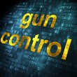 Protection concept: Gun Control on digital background — Stock Photo