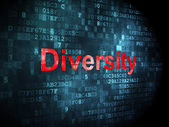 Finance concept: Diversity on digital background — Foto Stock