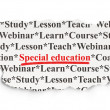 Stock Photo: Education concept: Special Education on Paper background
