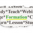 Stock Photo: Education concept: Formation on Paper background