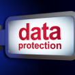Stock Photo: Safety concept: DatProtection on billboard background