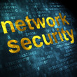 Stock Photo: Protection concept: Network Security on digital background