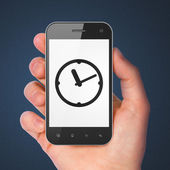 Time concept: Clock on smartphone — Stockfoto