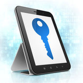 Privacy concept: Key on tablet pc computer — Foto de Stock