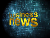 News concept: Business News on digital background — Stock Photo