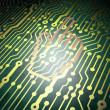Stock Photo: Web development concept: circuit board with Mouse Cursor