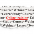 Stock Photo: Education concept: Online Training on Paper background