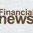 News concept: Financial News on fabric texture background — Stock Photo