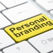 Stock Photo: Marketing concept: Personal Branding on computer keyboard background