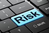Business concept: Risk on computer keyboard background — Stockfoto