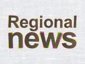 News concept: Regional News on fabric texture background — Stock Photo