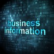 Stock Photo: Business concept: Business Information on digital background