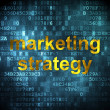 Stock Photo: Advertising concept: Marketing Strategy on digital background