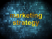 Advertising concept: Marketing Strategy on digital background — Foto Stock