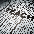 Stock Photo: Education concept: circuit board with Teach