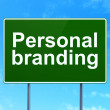 Marketing concept: Personal Branding on road sign background — Stock Photo