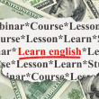 Education concept: Learn English on Money background — Stock Photo #34596555