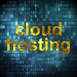 Stock Photo: Cloud technology concept: Cloud Hosting on digital background