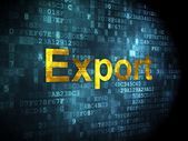 Business concept: Export on digital background — Stock Photo