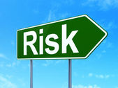 Business concept: Risk on road sign background — Stock Photo