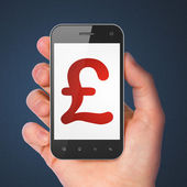 Currency concept: Pound on smartphone — Foto Stock