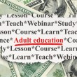 Education concept: Adult Education on Money background — Stock Photo