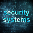 Security concept: Security Systems on digital background — Stock Photo