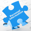 Protection concept: Personal Information on puzzle background — Stock Photo #34607145