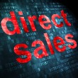 Advertising concept: Direct Sales on digital background — Stock Photo