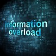Data concept: Information Overload on digital background — Stock Photo