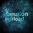 Stock Photo: Datconcept: Information Overload on digital background