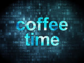 Time concept: Coffee Time on digital background — Stockfoto