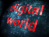Datenkonzept: Digital World auf digitale Hintergrund — Stockfoto