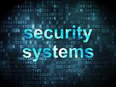 Concepto de seguridad: los sistemas de seguridad en el fondo digital — Foto de Stock
