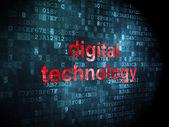Veri kavramı: dijital arka plan üzerinde dijital teknoloji — Stok fotoğraf
